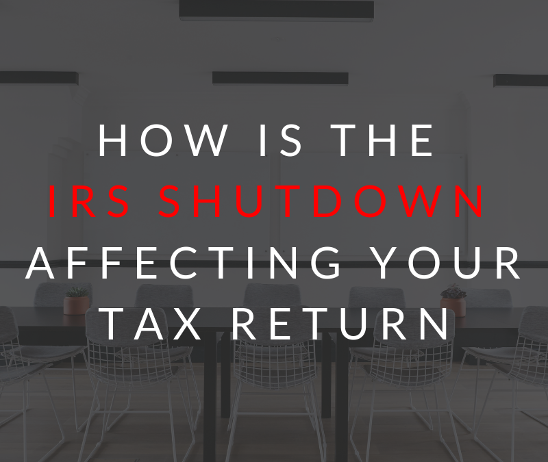 How is the IRS Shutdown Affecting YOUR Tax Return